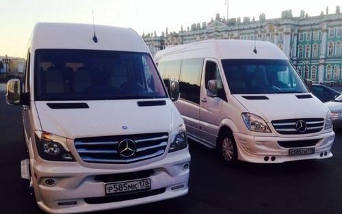 Аренда  автомобиля Mercedes-Benz Sprinter LUX с водителем в Санкт-Петербурге